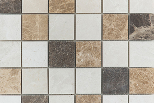 Beige Brown Gold Mix - Marble Mosaic