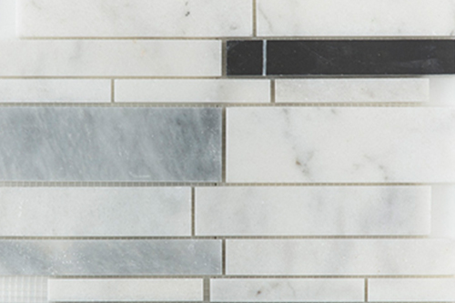 White Grey Black - Marble Mosaic