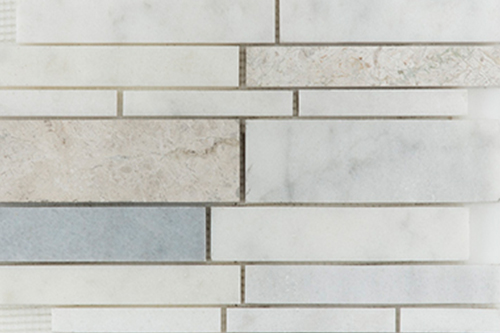 White Silver Grey - Marble Mosaic