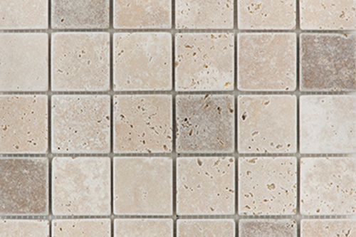 Light Noche Medium Mix - Travertine Mosaic