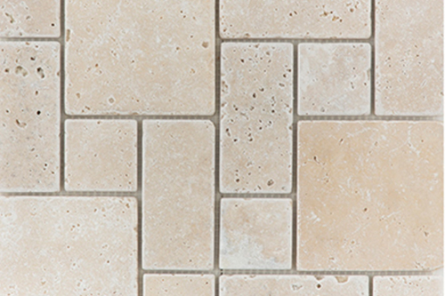 Mini Pattern Set Light - Travertine Mosaic