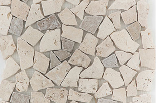 Pebbles L/N Mix - Travertine Mosaic
