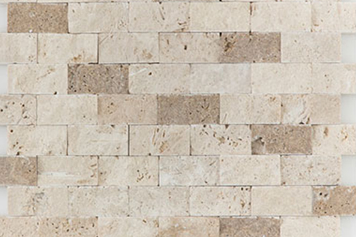 Splitface L/N Mix - Travertine Mosaic