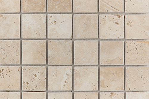 Tumbled Light - Travertine Mosaic